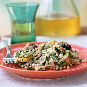 Dinner Tonight: Couscous with Artichokes, Feta, and Sun-Dried Tomatoes